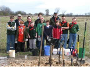 Tree Planting Group - Stratford Scouting Group - Dyna Mig