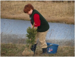 Tree Planting - Stratford Scouting Group - Dyna Mig